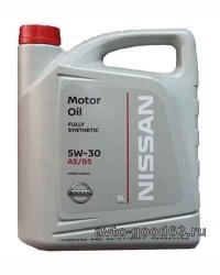 Оригинальное моторное масло Nissan Motor Oil SAE 5w-30 5л.