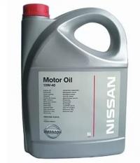 Оригинальное моторное масло Nissan Motor Oil SAE 10w-40 5л.