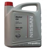 Оригинальное моторное масло Nissan Motor Oil SAE 5w-40 5л.