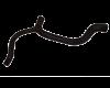 Патрубок радиатора отводящий низ  КАЛИНА