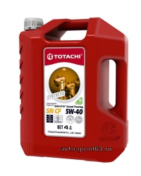 TOTACHI DENTO GRAND TOURING SYNTHETIC 5W-40 API SN/CF
